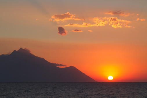 Mt Athos Monastic Republic「Greece, Mount Athos at the sunrise」:スマホ壁紙(14)