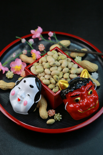 節分「Fukumame and Masks for Setsubun」:スマホ壁紙(11)