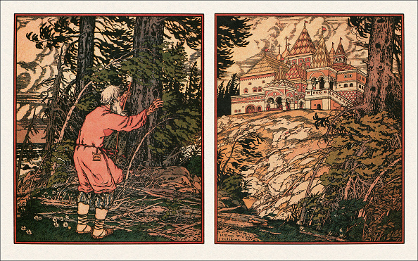 Fairy Tale「Illustration to the The Tale of the Fisherman and the Fish, 1933」:写真・画像(13)[壁紙.com]