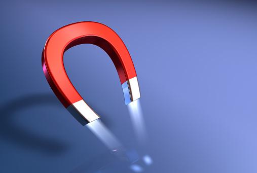 Magnet「Illustration of a horseshoe magnet's attractive power」:スマホ壁紙(7)