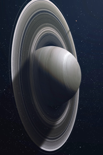Solar System「Illustration of Saturn, the sixth planet of our solar system. Famous mostly because of impressive set of rings around it. There are also 5 of it's satellites visible.」:スマホ壁紙(4)