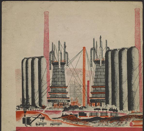 Chromolithograph「Illustration For The Childrens Book Kuznets Metallurgical Combine: A Socialist Giant」:写真・画像(5)[壁紙.com]