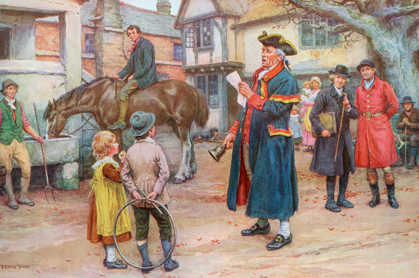 Colonial Style「Town Crier Reading The News」:写真・画像(2)[壁紙.com]