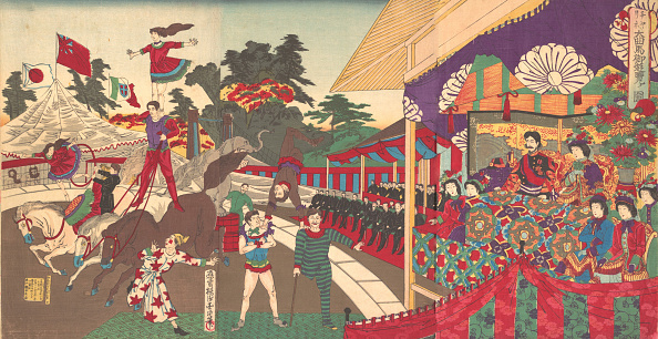Japanese Royalty「Illustration Of The Imperial Excursion To See The Charinis Circus (Charine Daik,」:写真・画像(11)[壁紙.com]