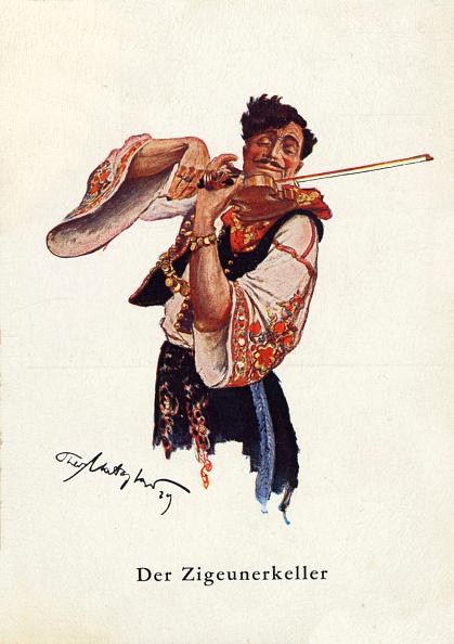 Violin「Illustration of male gypsy」:写真・画像(5)[壁紙.com]