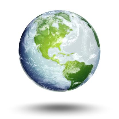 Globe - Navigational Equipment「Illustration of Earth's western hemisphere and the Americas」:スマホ壁紙(11)