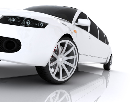 Wheel「Illustration of a luxurious white modern limousine」:スマホ壁紙(12)
