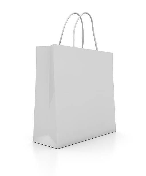 Illustration of a plain white shopping bag:スマホ壁紙(壁紙.com)