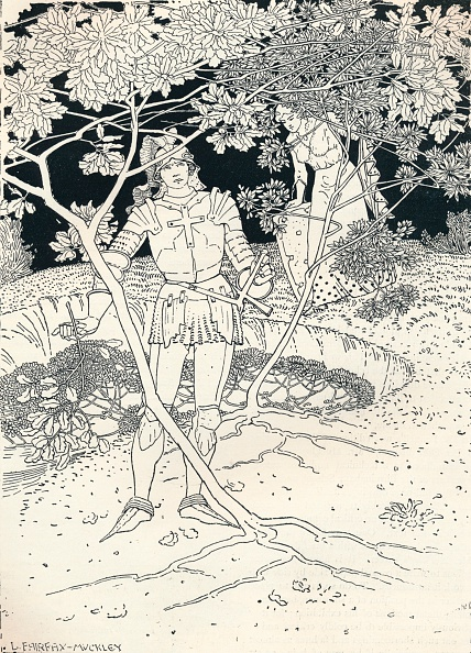 Hiding「'Illustration to Spenser's Faerie Queene. Canto II. Verse 30', c1895. Artist: Louis Fairfax Muckley.」:写真・画像(0)[壁紙.com]