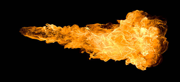 Large deep fireball against a black background:スマホ壁紙(壁紙.com)