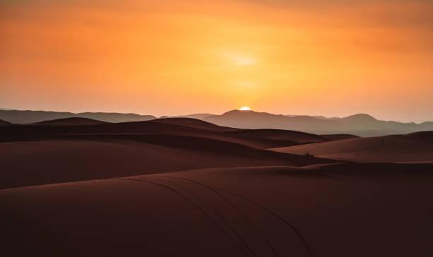 sunset in the desert:スマホ壁紙(壁紙.com)