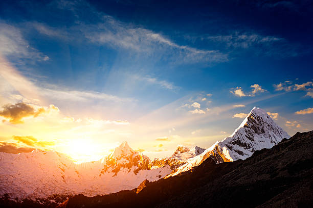 Sunset in the Cordillera Blanca mountain range:スマホ壁紙(壁紙.com)