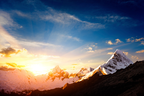 Wilderness Area「Sunset in the Cordillera Blanca mountain range」:スマホ壁紙(6)
