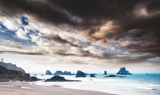 Cape Sebastian「Ecola state park landscape on the Oregon Coastline」:スマホ壁紙(12)