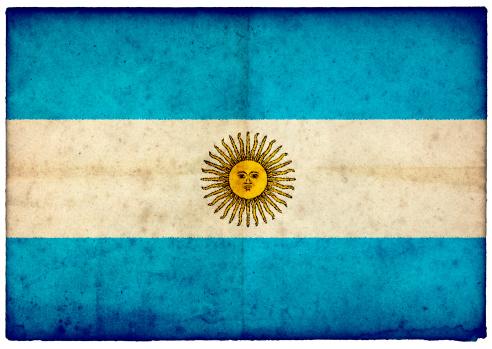 Argentinian Flag「Grunge Argentinian Flag on rough edged old postcard」:スマホ壁紙(16)