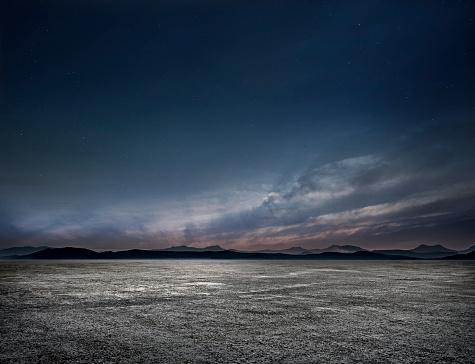 Starry sky「Night Empty parking lot」:スマホ壁紙(14)