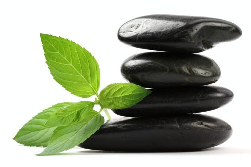 Feng Shui「Massage Stones with Mint Leaves」:スマホ壁紙(3)