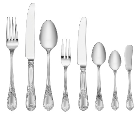 Silver Colored「Elegant Silverware Set (Clipping Path)」:スマホ壁紙(19)