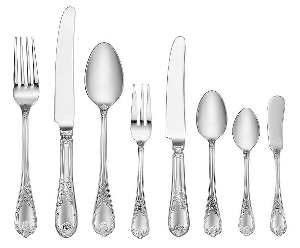 Elegant Silverware Set (Clipping Path):スマホ壁紙(壁紙.com)