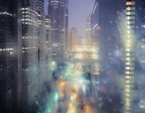 Rain「Magical Tokyo metropolis on a rainy evening.」:スマホ壁紙(7)