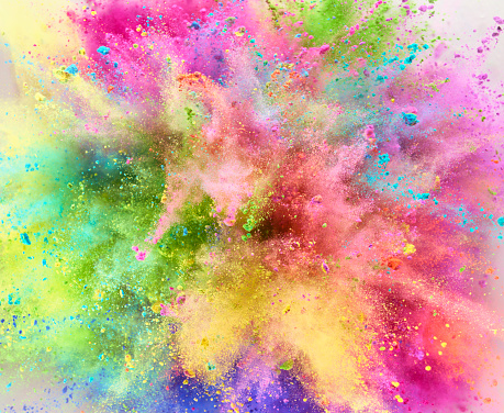 Abstract Backgrounds「Colorful Powder Explosion」:スマホ壁紙(16)