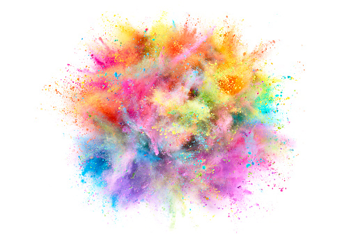 Color Image「Colorful Powder Explosion」:スマホ壁紙(11)