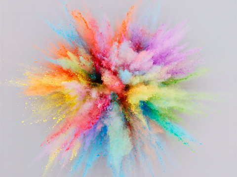 Exploding「Colorful Powder Explosion」:スマホ壁紙(5)