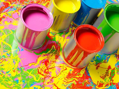 カラフル「色の背景に手描きのペイント」:スマホ壁紙(11)