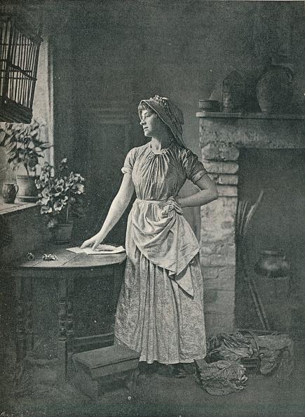 Kitchen「Who Could Have Sent It? c 1885」:写真・画像(18)[壁紙.com]