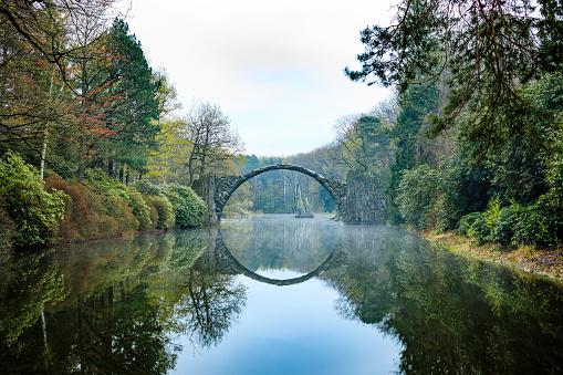 Mirror Lake「Rakotz bridge in Kromlau」:スマホ壁紙(2)