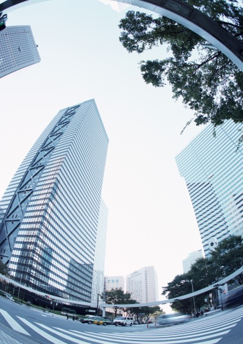 Fish-Eye Lens「Towering skyscrapers」:スマホ壁紙(12)