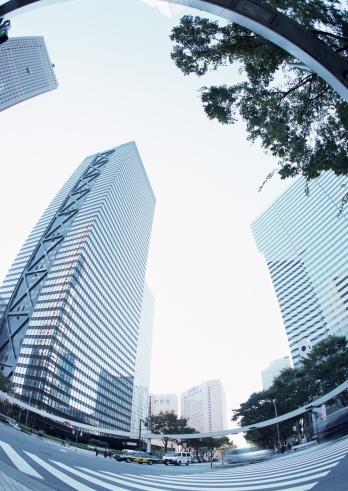 Fish-Eye Lens「Towering skyscrapers」:スマホ壁紙(9)