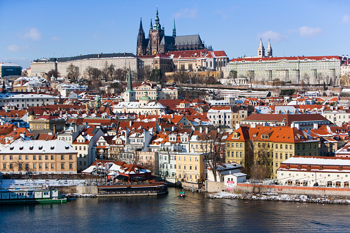 St Vitus's Cathedral「View of Prague from the Charles Bridge」:スマホ壁紙(16)