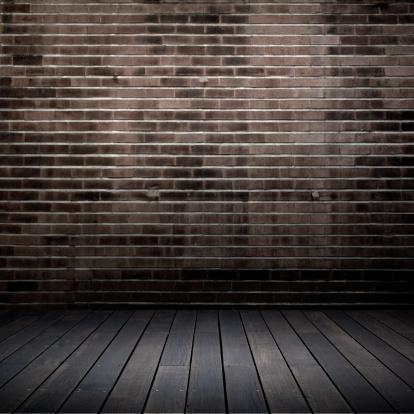 Brick Wall「grunge interior」:スマホ壁紙(19)