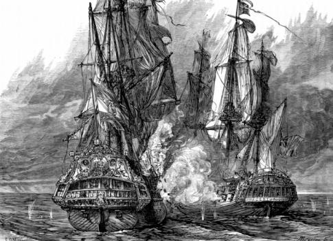 Battle「Battle between two ships in War of Jenkins' Ear」:スマホ壁紙(1)