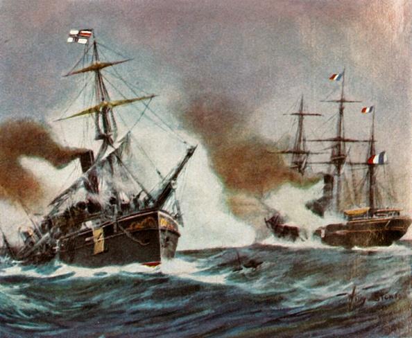 "Passenger Craft「Battle Between The ""Meteor"" And The ""Bouvet"" Off Havana」:写真・画像(6)[壁紙.com]"