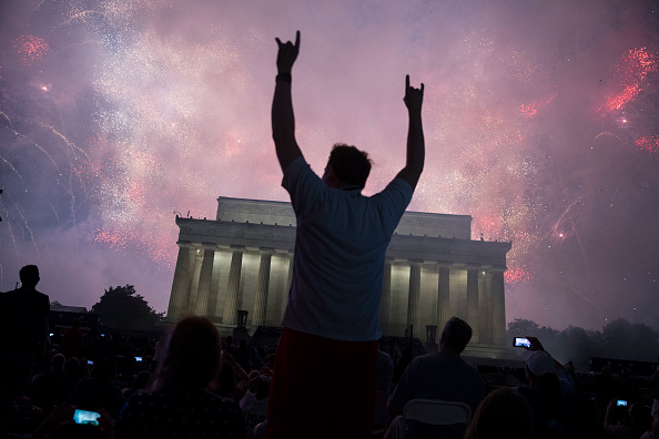 Washington DC「President Trump Delivers Address At Lincoln Memorial On Independence Day」:写真・画像(17)[壁紙.com]