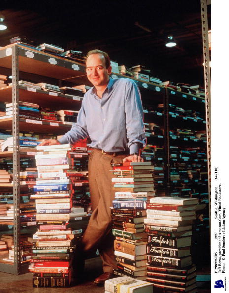 Founder「Jeff Bezos Founder & CEO Of Amazon Com Poses For Portrait January 1 1997 In Seattle W」:写真・画像(15)[壁紙.com]