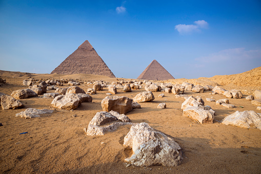 Pyramid Shape「Pyramids at Giza, Cairo, Egypt」:スマホ壁紙(5)