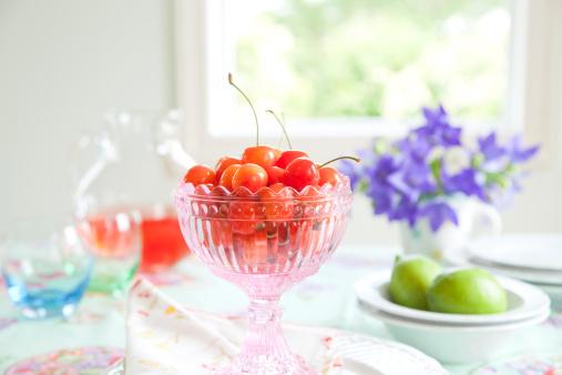 サクランボ「Cherries in a glass」:スマホ壁紙(16)