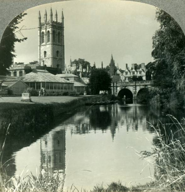 Looking Northeast From The River Cherwell To The Tower Of Magdalen College:ニュース(壁紙.com)