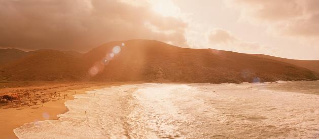 屋外「Sunset on beach」:スマホ壁紙(11)