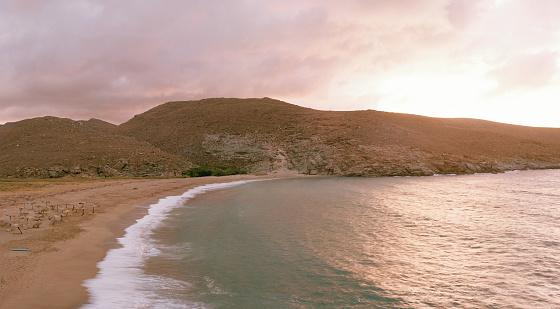 屋外「sunset on beach」:スマホ壁紙(10)