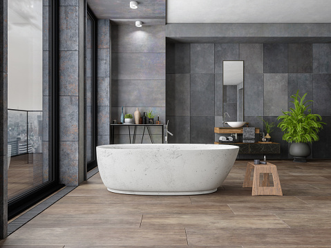 Clean「Bathroom In New Luxury Home」:スマホ壁紙(11)