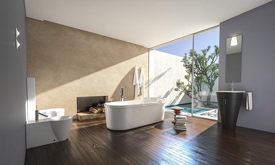 美しさ「新しい高級住宅のバスルーム」:スマホ壁紙(7)