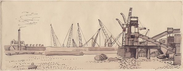 Construction Machinery「Docks On The River Thames In London」:写真・画像(9)[壁紙.com]