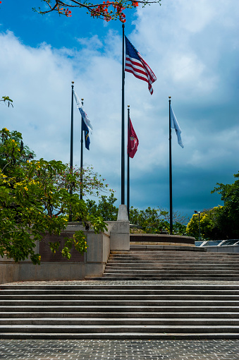 Northern Mariana Islands「Flags on wind in American Memorial Park, Saipan, Northern Marianas」:スマホ壁紙(17)