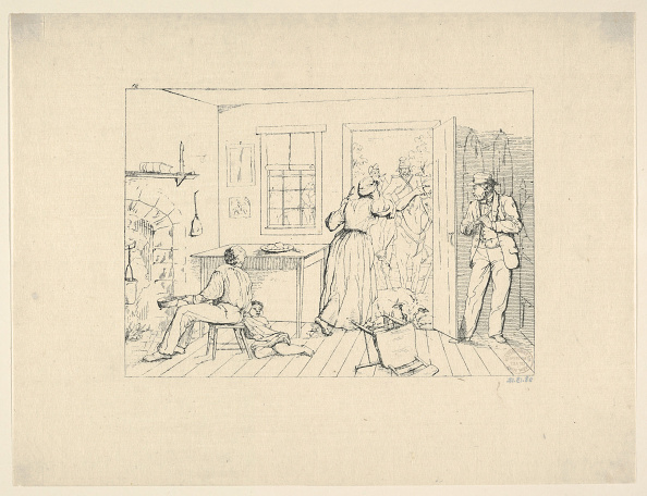 Hiding「Slaves Concealing Their Master From A Search Party (From Confederate War Etchings)」:写真・画像(7)[壁紙.com]