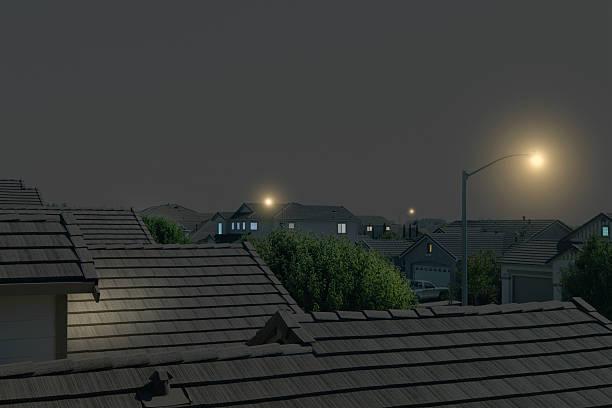 Suburban Rooftops at Night:スマホ壁紙(壁紙.com)
