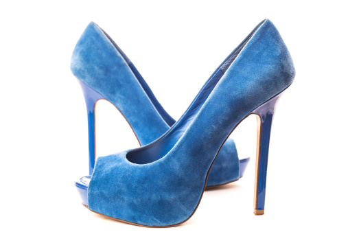 High Heels「Elegant blue suede high heels」:スマホ壁紙(12)